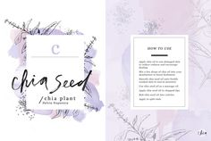 Why chia seed oil is important and how it fits in with one of our favorite beauty brands!