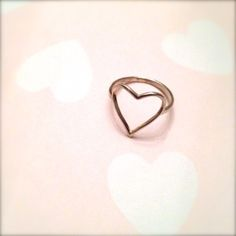 open heart shaped ring in sterling silver Heart Shaped Rings, Heart Ring, Sterling Silver Jewelry, Silver Rings, Heart Shapes, Handmade Jewelry, Stuff To Buy, Heart Rings, Diy Jewelry
