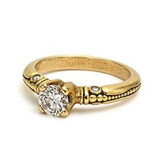 "18k gold and diamond ""Bubbles"" ring (round center stone 5-6mm) $2,250.00 (mounting only)"