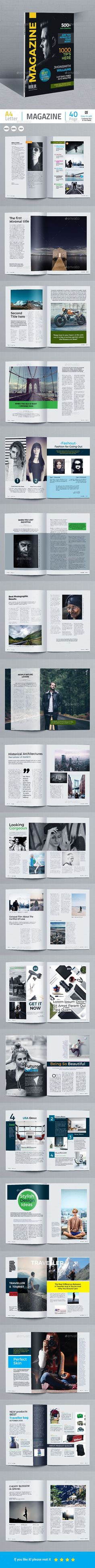 Magazine #modern #editorial  • Download here → https://graphicriver.net/item/magazine/21015240?ref=pxcr