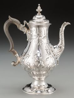 A William & James Priest George III Silver Coffee Pot, London, England, circa 1766