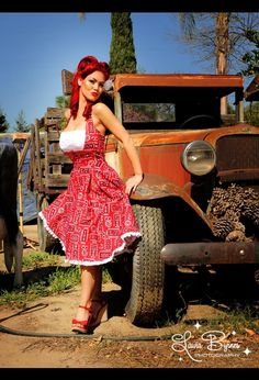 Ginger Dress in Red Bandana Print by Pinup Girl Clothing. LOVE!!!