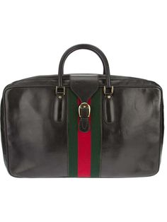 Gucci Vintage signature striped luggage