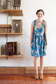 Jenny Gordy dress - so lovely! And paired so well with shoes and necklace. Love her style.