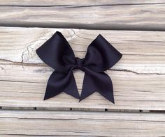Black Bow-Cheer Bow-Small Cheer Bow-Toddler Bow-Kids Bow-Infant Bow on Etsy, $3.50