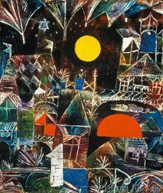 Paul Klee - Mondaufgang - Sonnenuntergang (68,0 x 80,0 cm)