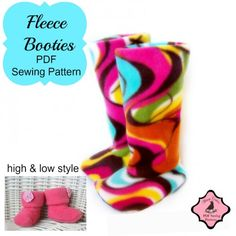 Fleece Booties PDF Sewing Pattern - Whimsy Couture Products