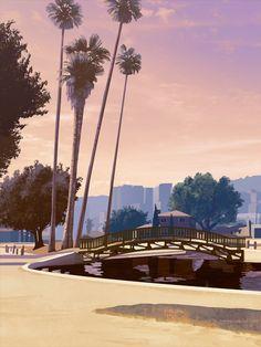 HD Wallpaper 28 V Games, Rockstar Games, Tropical Landscaping, Landscape Prints, Grand Theft Auto, Gta 5, Seattle Skyline, Hd Wallpaper, Concept Art