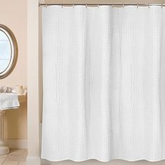 Bed, Bath and Beyond - With richly textured organic cotton for a luxuriously full look, the Escondido Shower Curtain by Park B. Smith brings simple elegance to any bathroom. Best of all, it's easy to care for and machine washable. Even better, is the frequent 20% off coupons they send!
