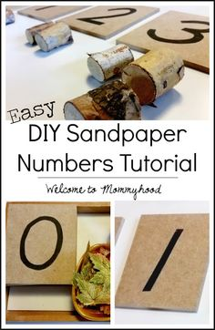 DIY sandpaper numbers Informations About DIY Montessori. You are in the right place about Montesso Diy Montessori, Montessori Materials, Diy Sandpaper Letters, Preschool At Home, Preschool Ideas, Math Work, Printable Numbers, Tot School, How To Make Diy