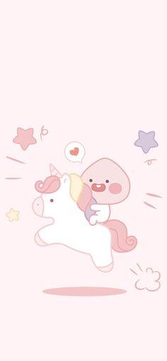 Cartoon Wallpaper, Iphone Wallpaper Kawaii, Iphone Background Wallpaper, Pink Glitter Wallpaper, Peach Wallpaper, Cute Backgrounds, Cute Wallpapers, Apeach Kakao, Notebook Drawing