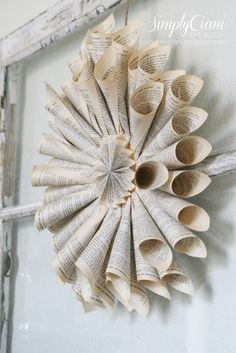 how to make a paper cone wreath by Simply Ciani