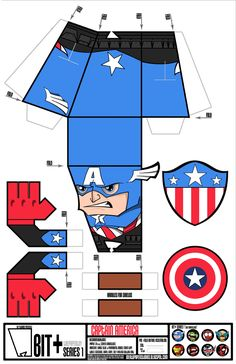 Captain America BIT+ by IdeatoPaperStudios.deviantart.com on @deviantART