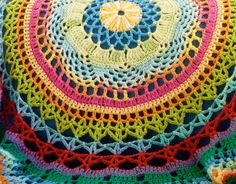 Circle Blanket  Tropical by ClamTown on Etsy