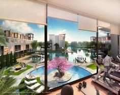 Stunning 5 star amenities: Gym, zen garden, and community center