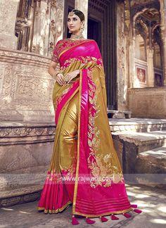 Buy indian designer sarees online for all occasions. Grab this snazzy banarasi silk Wedding Saree Designer Silk Sarees, Art Silk Sarees, Silk Sarees Online, Banarasi Sarees, Lehenga Choli, Saree Sale, Latest Sarees, Work Sarees, Traditional Sarees