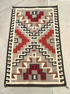 Exceptional Circa 1900 Navajo Native American Indian Rug from The Vault Fine Antiques & Estate Jewelry on Ruby Lane Native American Blanket, Native American Rugs, Native American Design, Native American Artifacts, American Indian Art, Native American Indians, Navajo Art, Navajo Rugs, Southwest Quilts