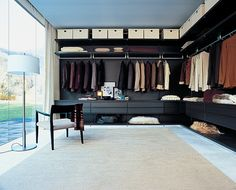 curtain....essential.   but cool idea overall...light walk in closets