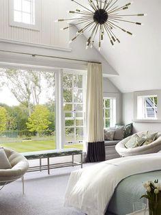Windows, draperies, furnishings, chandelier | Timothy Haynes & Kevin Roberts