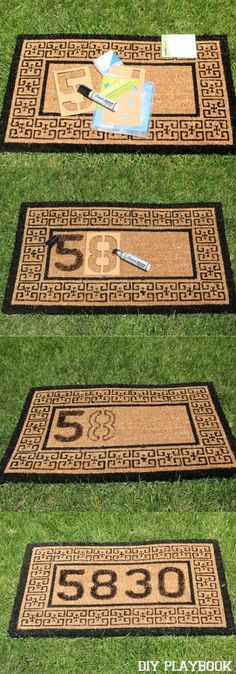 Create this DIY doormat in 10 minutes only using a sharpie marker! It's that easy to add a little personality to your front door space.