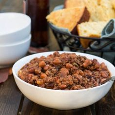 This hearty Five-Alarm Chili is loaded with enough spice to call in the fire department. The spice comes from 5 different sources: jalapeno, chipotlein adobo, chili powder, cayenne, and ancho. I'll admit I chickenedout a little when making this recipe and toned down the quantities of spice some. The resulting chili had a complex spice …