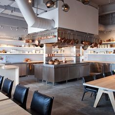Check out 21 Small Restaurant Kitchen Design Ideas For Kitchen. The Architecture Designs, browse all small restaurant design to make the kitchen look great. Restaurant Layout, Open Kitchen Restaurant, Small Restaurant Design, Restaurant Seating, Restaurant Concept, Restaurant Interior Design, Interior Design Kitchen, Commercial Kitchen Design, Kitchen Design Open
