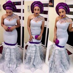 Lovely Wedding Gown Design http://www.dezangozone.com/2015/06/lovely-wedding-gown-design.html - Ankara Design ~African fashion, Ankara, kitenge, African women dresses, African prints, Braids, Nigerian wedding, Ghanaian fashion, African wedding ~DKK