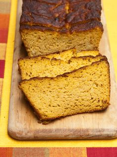 """""""This is awesome!"""" said my son Oliver, when he taste-tested this bread. I'm very pleased with it too. It's everything I'm looking for in a mango bread – moist, a deep mango flavor, light texture and rich taste. (Here's what I wasn't looking for: crumbly and dry, heavy and oily, and generically sweet without really...Read More »"""