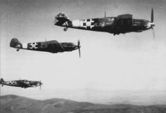 Photo: Fighters / B Slovak Luftwaffe in flight squadron Ww2 Aircraft, Military Aircraft, B 13, Axis Powers, Luftwaffe, World War Two, Wwii, Air Force, Fighter Jets