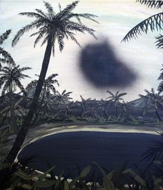 """Reminds me of LOST--smoke monster. PAUL WACKERS PAINTING """"UNTITLED"""", 2009"""