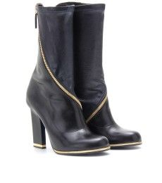 Jil Sander LEATHER BOOTS WITH ZIPPER DETAIL