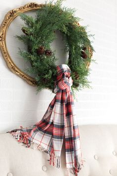Hello friends and happy November 1st. I'm excited to resume our Farmhouse Holiday series in our master bedroom, with help from our friends atBirch Lane. This amazingEmory PlaidDuvetserved as th...