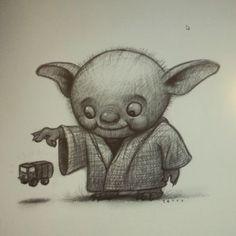 Lil Yoda #DRAWING #sketch #procreate #starwars www.willterry.com www.svslearn.com