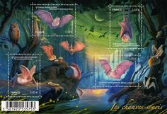 We are loving these #bat themed #stamps from France #lovebats #wildlife #nature #chiroptera