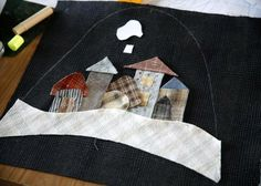 Sew cozy slippers. Quilting and patchwork. DIY tutorial in pictures.