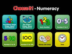 ChooseIt! Numeracy: New ChooseIt! Numeracy App based on the BETT Award winning ChooseIt Ready-made Series from Inclusive Technology. ChooseIt! Numeracy contains over 230 activities with over 6,000 pages of simple multiple choice activities.