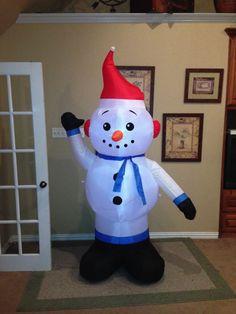 Gemmy snowman chubby inflatable polla