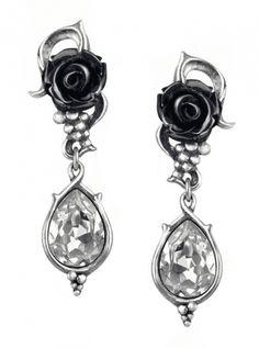 """""""Bacchanal Rose"""" Earrings by Alchemy of England #inked #inkedshop #inkedmagazine #jewelry #earrings"""