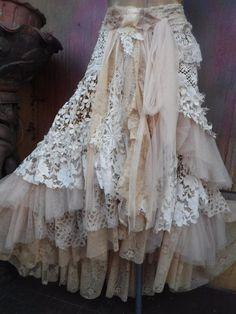 weddingtattered skirt boho mori girl stevie nicks