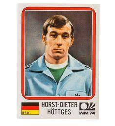 Panini München 74 Sticker Nr. 86 - Horst-Dieter Höttges WM 1974 vorne