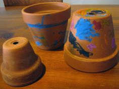 Hot melting pots - use a heated clay flower pot to coat in crayon for a colorful garden display.