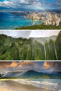 The Ultimate Guide to all of the Hawaiian Islands! Oahu – This is the most visited and populous island in Hawaii. It features the capitol city of Honolulu and a lot of the most common tourist spots like Waikiki beach, the North Shore, and Pearl Harbor.