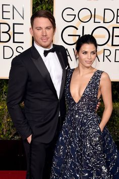 Channing Tatum and Jenna Dewan Tatum on the Golden Globes red carpet this year.  Intraceuticals Oxygen Facial. 818-501-3223 www.drpersky.com