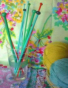 Always on the lookout for colourful needles. blogged at bobobun.blogspot.com/