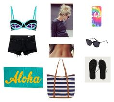 """""""Beach day with Bea"""" by lauren-25ellis on Polyvore featuring Sweaty Betty, rag & bone/JEAN, Abercrombie & Fitch and Accessorize"""