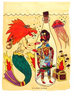 Mermaid And Sailor is an illustration.