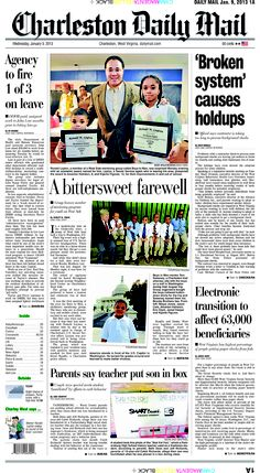 The big story on Wednesday's front page covers glitches with the computer system used to process state background checks. As a result, job seekers are left in limbo. The centerpiece focuses on how the West Side mentoring group Boys to Men surprised one its mentors, a secret service agent who is returning to Washington, D.C.