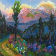 Mountain Lupine - by Barbara Zaring