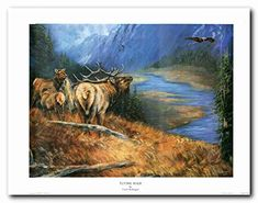 Big Bull Elk Antler Mountain Wildlife Animal Painting Wal... https://www.amazon.com/dp/B01LZDOQFH/ref=cm_sw_r_pi_dp_x_GYj9xb4BK4N58