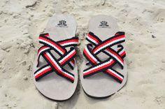 """WAYUU SANDALS US7/EUR40/UK6.5. Typical Wayuu Indian footwear called """"Wayrenas."""" www.colombiart.co"""